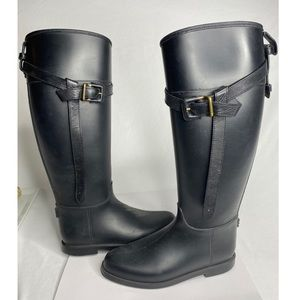 Burberry Roscot Riding Rain Boots Belted
